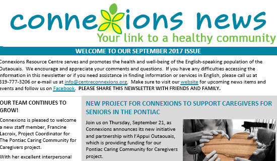 Our Connexions September Newsletter Is Out!