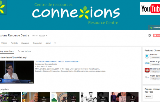 Connexions Has Its Own YouTube Channel!