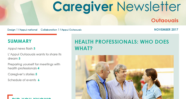 Appui Outaouais November 2017 Caregiver Newsletter
