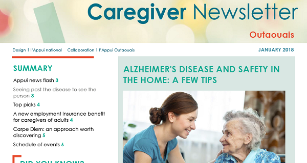 Appui Outaouais January 2018 Caregiver Newsletter