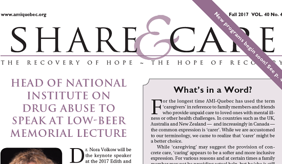 Ami-Quebec Share & Care Fall Newsletter
