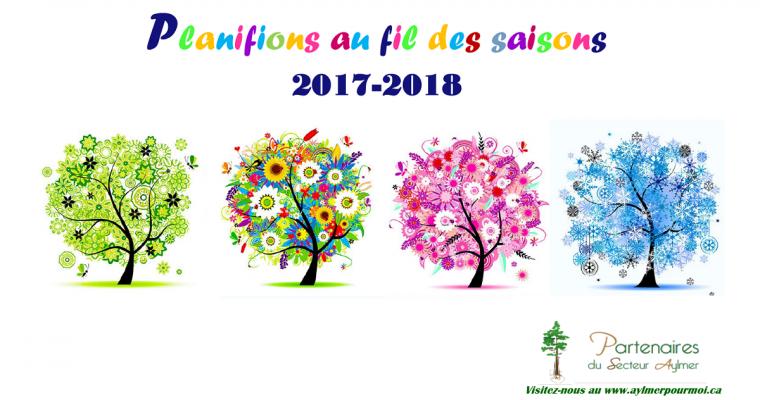 Check out Partenaires du Secteur Aylmer's 2017-2018 Family Calendar!