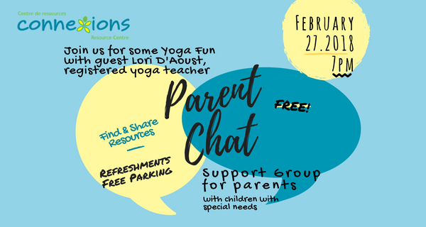 Parent Chat Yoga Fun Coming Up on Tuesday, February 27!