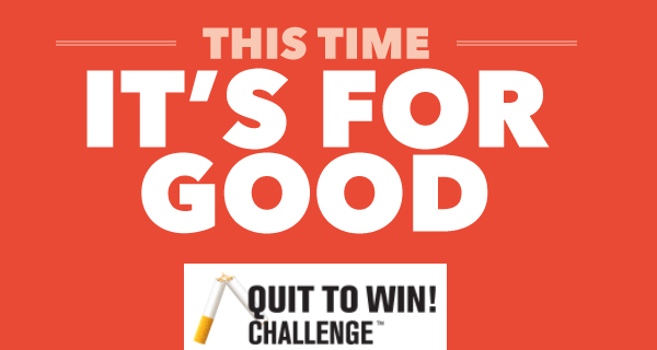 Register Now for the QUIT TO WIN! CHALLENGE!