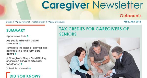 Appui Outaouais February 2018 Caregiver Newsletter